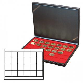 LINDNER 2364-2124E Nera M Münzkassetten Einlage Hellrot Rot 20 Fächer für Münzen bis 41x 41 mm - 1 Dollar US Silver Eagle $