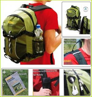ADAC Touren - Wander Rucksack Tourenrucksack Outdoor Camping Collection 20 Liter mit Rückenpolster + ADAC Campingführer