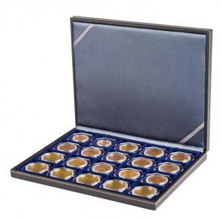 LINDNER 2364-2122ME Nera M Münzkassetten Einlage Marine Blau 20 Fächer 50 x 50 mm Münzrähmchen Octo Carree Quadrum Münzkapseln