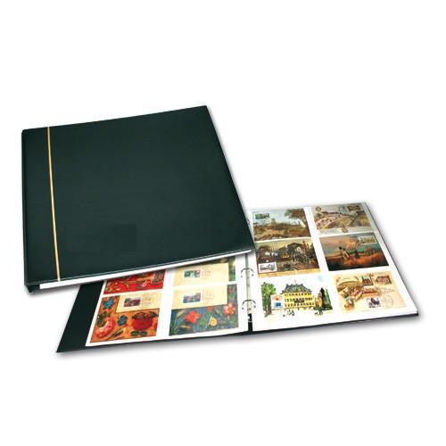 SAFE 1319-5 Standard Postkartenalbum Album Ringbinder Schwarz + 8 Ergänungsblätter Mixed - Erweiterbar bis 300 Karten