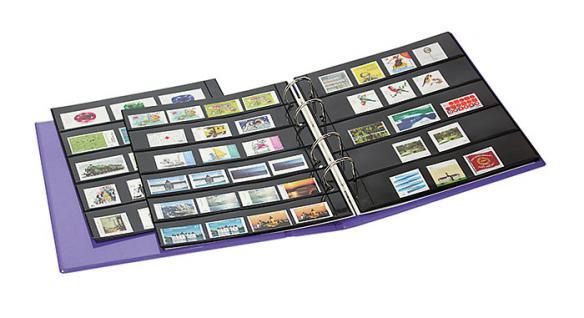 Lindner S3540b-1 Berry Multi Collect Ringbinder Publica M Color + Je 5 Blätter Mu1315 & Mu1316 Für Briefmarken - Vorschau 3