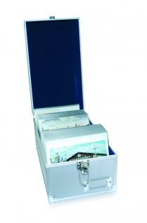 SAFE 163 ALU Sammelkoffer Koffer Für bis zu 600 Postkarten Ansichtskarten Einsteckkarten A6 / C6
