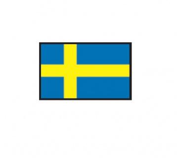 1 x SAFE 1175 SIGNETTE Flagge Schweden - Sverige - Sweden Aufkleber Kennzeichnungshilfe - selbstklebend