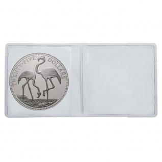 50 LINDNER 4027 Doppelmünzhüllen Doppel Münztaschen Münzenhüllen aus PVC klare Folie für Münzen bis 60 mm