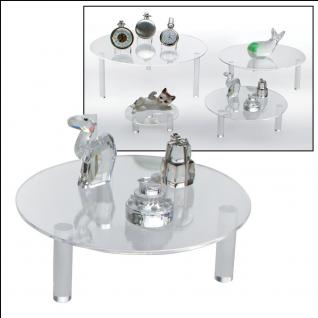 SAFE 5281 Runde ACRYL Präsentationsteller Deko Aufsteller 150 mm Für Porzellan - Glas - Keramik - Ton - Figuren - Tassen - Vorschau 3