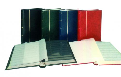SAFE 156-1 Briefmarken Einsteckbücher Einsteckbuch Einsteckalbum Einsteckalben Album Weinrot - Rot wattiert 64 geteilte weissen Seiten - Vorschau 2