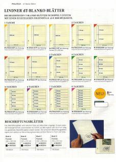 5 x LINDNER DT802204P DT-Blanko-Blätter Blankoblatt 18-Ring Lochung - 2x 2 Taschen 119 x 189 mm - Vorschau 2