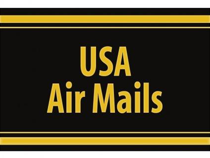 "1 x SAFE 1130 SIGNETTE Aufkleber selbstklebend "" USA Air Mails """