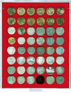 LINDNER 2148 Münzbox Münzboxen Standard 48 x 30 mm Münzen quadratischen Vertiefungen 5 DM 5 Euro ÖS