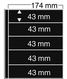 5 x SAFE 7879 Compact Ergänzungsblätter Hüllen 5 Streifen 174 x 43 mm + schwarze. ZWL