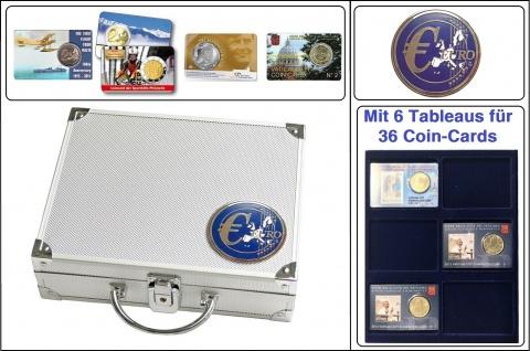 SAFE 177 - 6373 Euro ALU Münzkoffer SMART 6 Tableaus Für 36 original Coincards