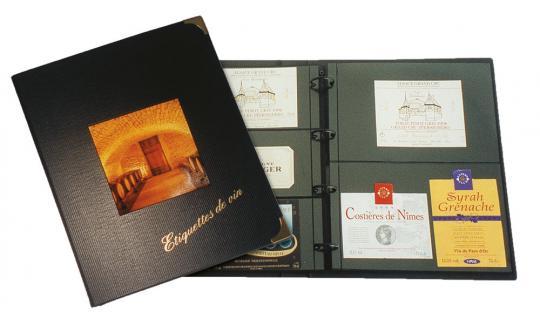 SAFE 5820 Weinetikettenalbum Design Album Sammelalbum mit 10 stabilen Compact A4 Hüllen Mixed für über 70 Weinetiketten