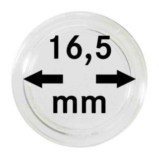 10 LINDNER Münzkapseln / Münzenkapseln Capsules Caps 16, 5 mm 2250165P