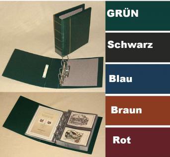 KOBRA G19B Schwarz ETB - Postkartenalbum Sammelalbum Binder Maxi (leer) zum selbst befüllen Für ETB - Postkarten - Briefe - Banknoten - Münzen