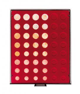 LINDNER 2906 Münzbox Münzboxen Rauchglas 6 komplette Euro Kursmünzensätze KMS 1 Cent - 2 Euromünzen