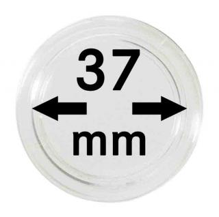 10 LINDNER Münzkapseln / Münzenkapseln Capsules Caps 37 mm 2250037P