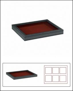 LINDNER 2367-2850E Nera M PLUS Sammelkassetten Dunkelrot Fenster 1 Fach ohne Unterteilung 210x270x18, 5mm