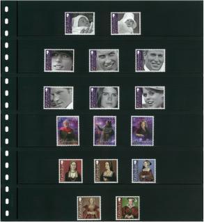 10 x LINDNER 06P Omnia Einsteckblätter schwarz 6 Streifen x 43 mm Streifenhöhe - Vorschau 3