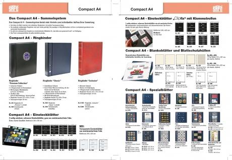 2 x SAFE 5460 Compact A4 Ergänzungsblätter Spezialblätter Samttafeln A4 Pins's Button Militaria - Vorschau 2