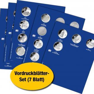 7 x SAFE 1868 TOPset Vordruckblätter für Münzblätter 7848 - 7850 Deutsche 10 Euromünzen 2002-2015