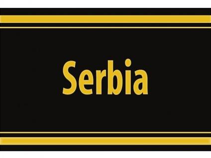 "1 x SAFE 1130 SIGNETTE Aufkleber selbstklebend "" Serbia "" Serbien"