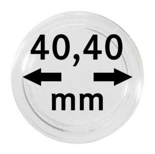 2 x Lindner S22704040P Spezial Münzkapseln Kapseln EXTRA HOCH Innen-Ø 40, 40 mm, Innenhöhe 6, 60 mm Ideal für Geocoins & TBs Travel Bugs & Geocaching