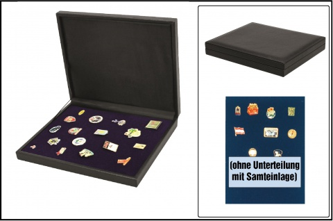SAFE 63600 NOVA deluxe Schmuckkassette schwarz 1 Fach Für Schmuck Ketten Ringe Armbänder Armreifen Ohrringe Krawattennadelnvon A - Z