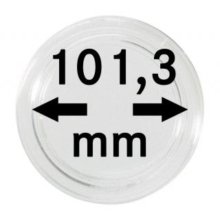 1 x Lindner 225000439 Spezial Münzkapseln EXTRA HOCH Innen-Ø 101, 3 mm I-höhe 13, 2 mm für 1 KG Silber