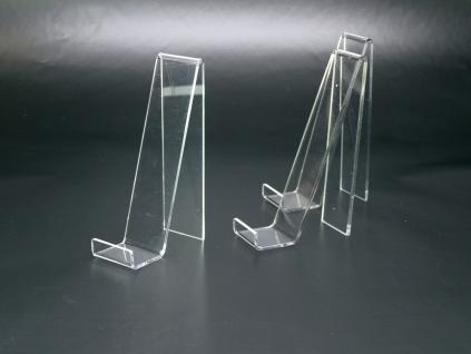 3 x SAFE 5276 Schräger Acryl Objektaufsteller Ständer Buchstütze M - Medium Für Bücher Schaufenster Vitrinen - Vorschau 2