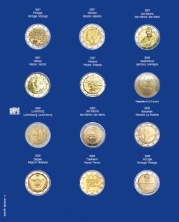 1 x SAFE 7302-4 TOPset Münzblätter Ergänzungsblätter Münzhüllen mit farbigem Vordruckblatt für 2 Euromünzen Gedenkmünzen in Münzkapseln 26 - 2007 - 2008