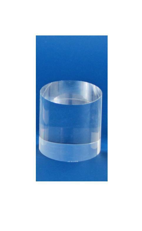 """SAFE 5214 ACRYLGLAS Deko Präsentations Säule Universal """" M """" Durchmesser 50 mm Höhe 25 mm - Für all die kleinen Schätze von A - Z"""