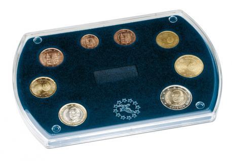 LINDNER 8495 Münzetui Münzen Etui 1 x Euromünzen Kursmünzen Satz KMS 1 Cent - 2 Euro