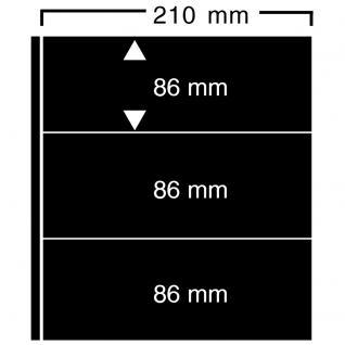 10 SAFE 423 Einsteckblätter Compact A4 CLIPFIX mit 3 Klemmstreifen 210 x 86 mm Für Banknoten Blocks Briefe Briefmarken