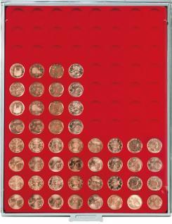 LINDNER 2510 Münzbox Münzboxen 88 x 21, 5 mm 5 EURO Cent / 10 Pfennige