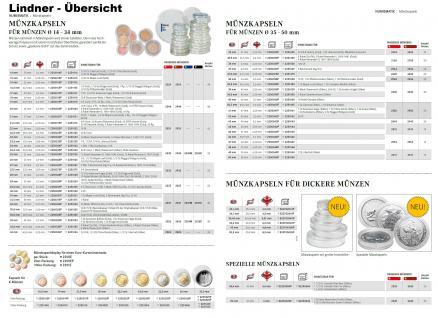 5 LINDNER Münzkapseln / Münzenkapseln Capsules Caps 23, 5 mm für 1 Euro 225023 - Vorschau 2