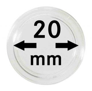 100 LINDNER Münzkapseln / Münzenkapseln Capsules Caps 20 mm 2251020