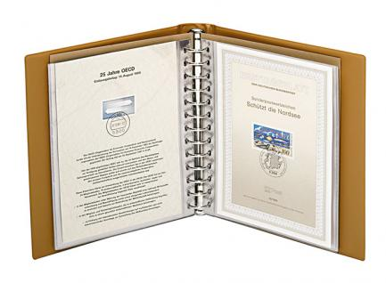 LINDNER 1103E - B - Blau ETB - Album Ringbinder Classic + 20 Klarsichthüllen 819 Für Ertstagsblätter - Vorschau 3