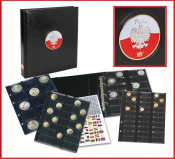 SAFE 7350 PREMIUM MÜNZALBUM Polen MIX 4x Münzhüllen Für 134 Münzen