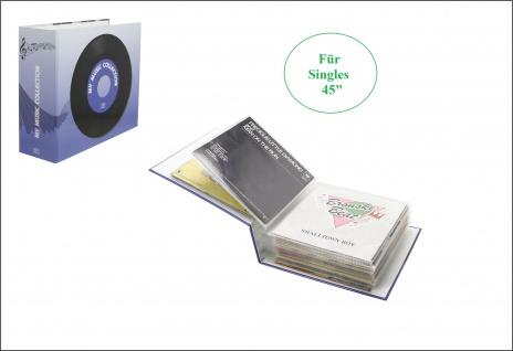 """SAFE 443 Schallplattenalbum Album Schallplatten mit 16 Sammelhüllen Für 16 Vinyl Single Schallplatten Platten 45"""""""