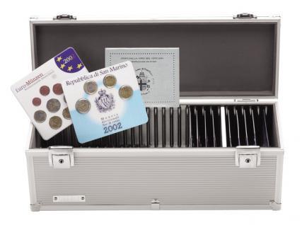 LINDNER 2030 Alu Koffer für quadratische EURO KMS Kursmünzensätze Sets - Vorschau 1