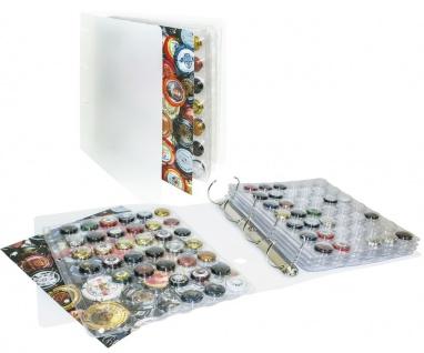 Lindner S3505 Champagner Kapsel Album Sammelalbum + 5 Blätter 3502 für 210 Champagnerdeckel