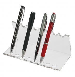 SAFE 73705 + 3143 SET Acryl Design Schreibgeräte Organizer Stiftehalter + Telefon Handy Ständer - Vorschau 2