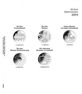 1 x LINDNER 1520-19 Münzhüllen Münzblätter Ergänzungsblätter K2 + Vordruckblatt 20 Euro Münzen Deutschland 2019
