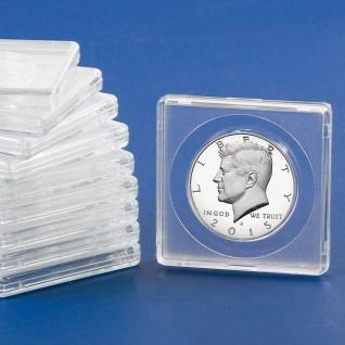 10 x SAFE 3131 SAFE Quadratische Münzkapseln Münzdosen Square 50x50 mm glasklar für Münzen bis 31 mm - Ideal für Ideal für 1/2 Half Dollar USA - 1/2 OZ Maple Leafe Gold - 3 Reichsmark Silber - 25 ÖS