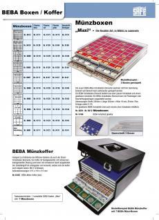 SAFE 6100 Set BEBA Münzkasten Sammelkasten MAXI komplett mit + 10 Schubern Schubladen gefüllt Für Geocoins TBs Geocaching Freie Auswahl - Vorschau 4