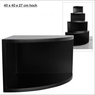 """SAFE 5351 Deko Präsentations Eck-Boards """" Syno Schwarz """" L - Large L 40 x H 40 x T 27 cm - Für alle Ihre Schätze von A - Z"""