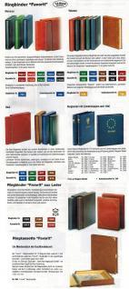 """SAFE Set 702 705 Ringbinder Album Favorit """" Morocco """" Blau unwattiert + Schutzkassette - Für Postkarten Banknoten Briefe Briefmarken - Vorschau 2"""