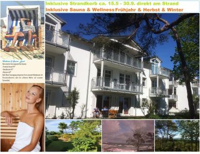 Rügen FEWO - Ferienwohnung Arkonablick Lastminute Seebad Breege - Juliusruh Direkt am Strand der Ostsee - Wellness & Sauna & Strandkorb kostenlos
