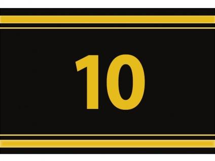 """1 x SAFE 1130 SIGNETTE Aufkleber """" 10 """" Zahlen Ziffern Bandzahlen"""