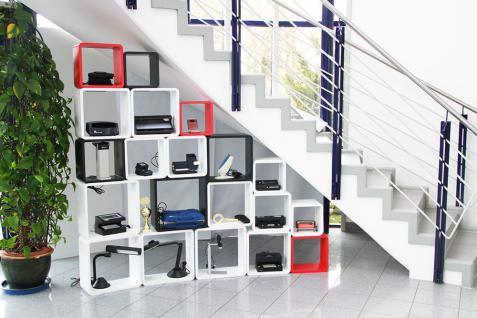 """SAFE 5326 Set Design Deko Präsentationsrahmen Würfel Cube Vintage Regal """" Quadro Weiss """" S M L XL - L 26 - 31 - 36 - 41 cm x B 26 - 31 - 36 - 41 cm x T 19, 5 cm - Vorschau 3"""
